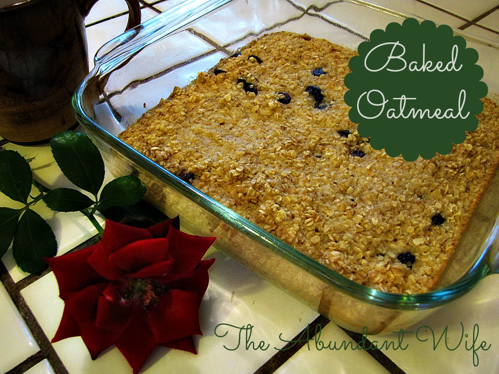 Baked Oatmeal Recipe: This delicious breakfast dish is a family favorite!  Make it the night before, and serve with milk.  Yummy!