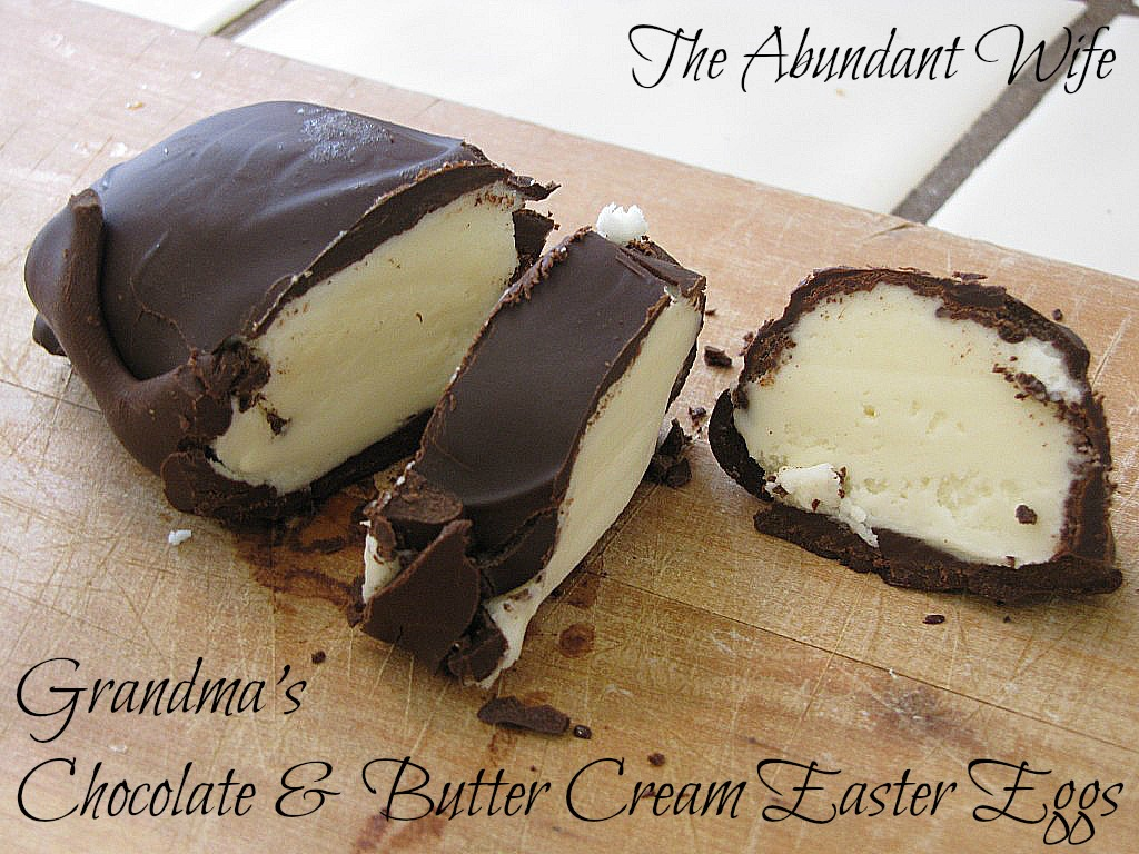 Grandmas Chocolate & Butter Cream Easter Eggs