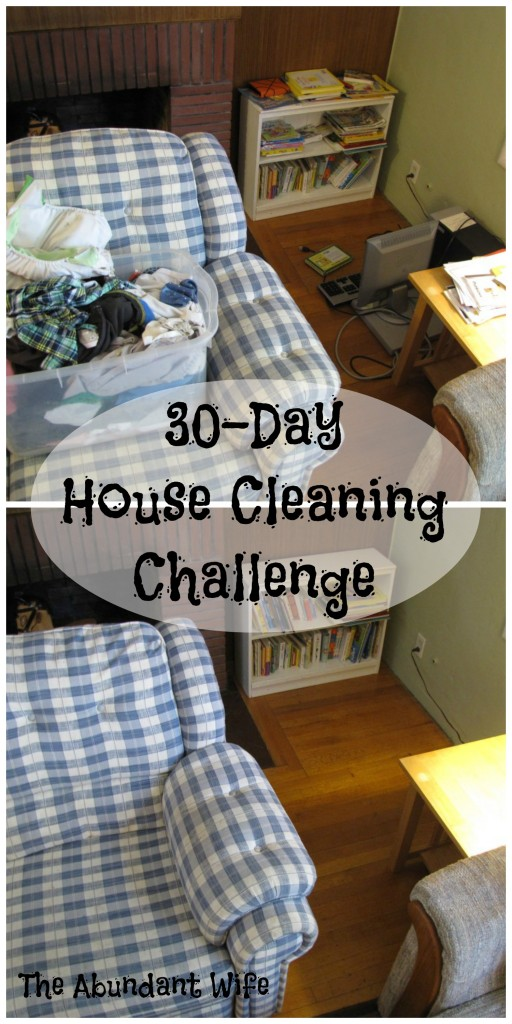 30-Day House Cleaning Challenge at The Abundant Wife: Lots of Before & After Photos!