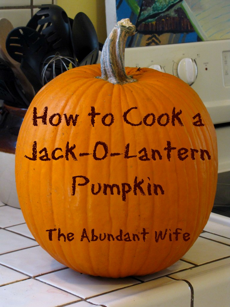 How to Cook a Jack-O-Lantern Pumpkin: Easy DIY step-by-step instructions for carving, pureeing, steaming, baking, seeds, and freezing!