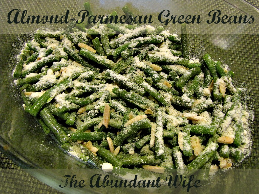 My husband loves when I make these Almond-Parmesan Green Beans!  They are unbelievably easy to make!