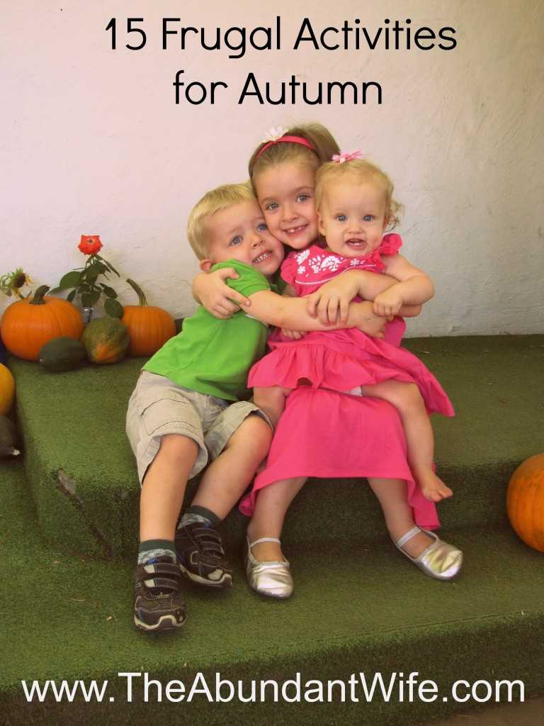 15 Frugal Activities for Autumn: Cooking, Crafts, Costumes, Decor, & More!