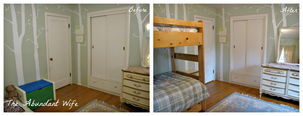 3 Kids in a Bedroom: Before & After New Bunk Beds 2
