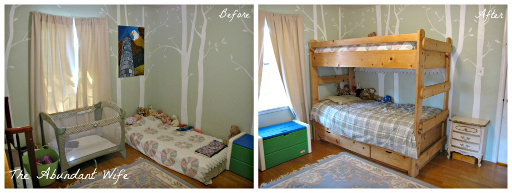 3 Kids in a Bedroom: Before & After New Bunk Beds 3