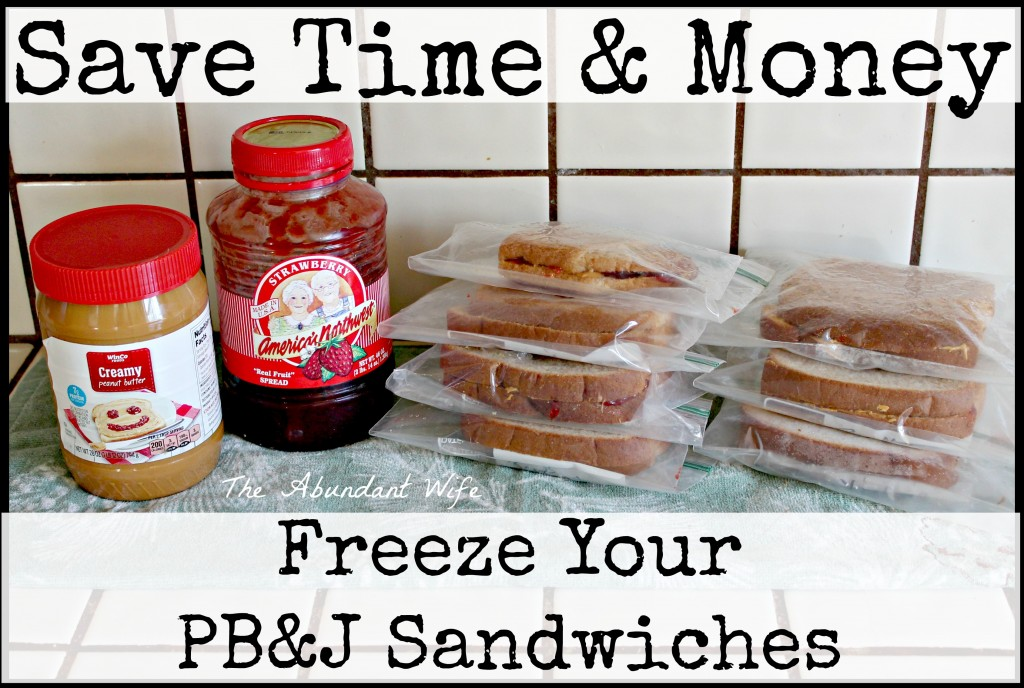 Save Time & Money: Freeze Your Peanut Butter & Jelly Sandwiches!
